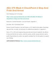 ADJ 275 Week 4 CheckPoint 2 Stop And Frisk And Arrest.pdf