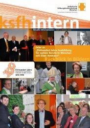 Rückblick in Bildern - Katholische Stiftungsfachhochschule (KSFH)