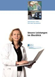 Unsere Leistungen im Überblick - Klinikum Region Hannover GmbH