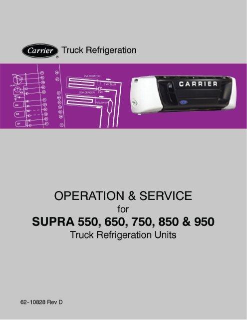 OPERATION AND SERVICE MANUAL Supra 550 650 750 850 & 950