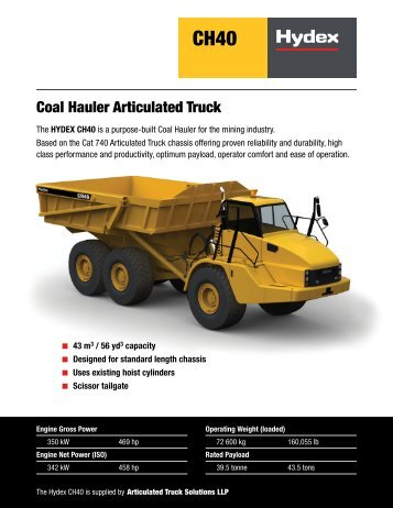 Coal Hauler Articulated Truck