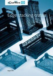 Edge stacking crates