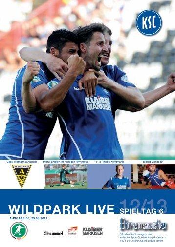 Stadionzeitung 6. Spieltag (KSC - Aachen) - Karlsruher SC