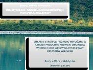 Lokalne Strategie Rozwoju wdrażane w ramach PROW i ich wpływ ...