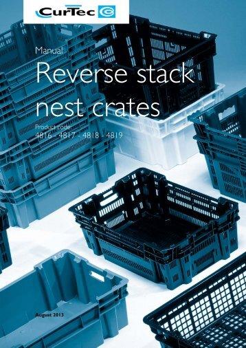 Reverse stack nest crates