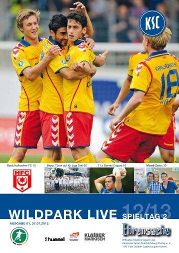 Stadionzeitung 2. Spieltag (KSC - Hallescher FC) - Karlsruher SC