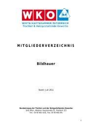 MITGLIEDERVERZEICHNIS Bildhauer - Tischlerinfo.com