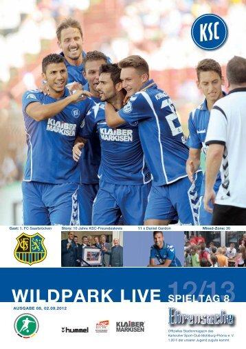 Stadionzeitung 8. Spieltag (KSC - Saarbrücken) - Karlsruher SC