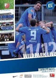 Stadionzeitung Relegation (KSC - Jahn Regensburg) - Karlsruher SC