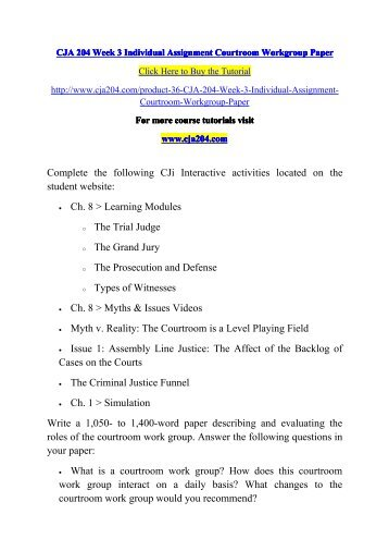 court issues analysis cja 394 For more course tutorials visit wwwtutorialrankcom tutorial purchased: 3 times, rating: a+ assignment folder: court issues analysis paper write a 1,050-1,400.