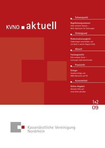 KVNO aktuell 1+2 2009 - Kassenärztliche Vereinigung Nordrhein