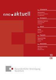 KVNO aktuell 10 2008 - Kassenärztliche Vereinigung Nordrhein