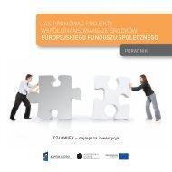Jak promować projekty współfinansowane ze środków - Europejski ...