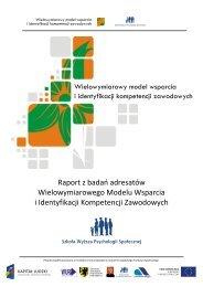 Raport z badań adresatów Wielowymiarowego Modelu Wsparcia i ...