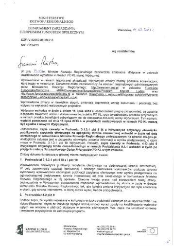 Pismo MRR z 2013.07.04 o sygnaturze DZF-IV-82252-88-MLi/13 dot ...