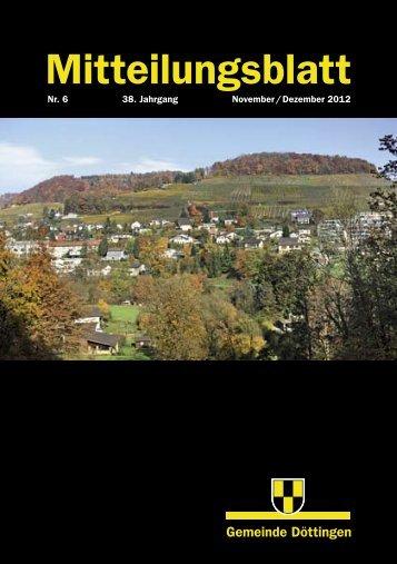 Mitteilungsblatt Nr. 6/2012 - Gemeinde Döttingen
