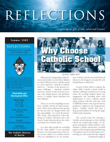 Reflections - 2009 Q2 - Catholic Diocese of Austin Texas
