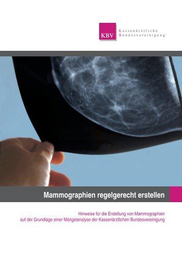 Hinweise für die Erstellung von Mammographien auf der Grundlage ...