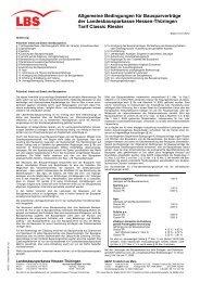 l Allgemeine Bedingungen für Bausparverträge der - Lbs