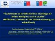 """""""Experiencia en la difusión de la tecnología de lechos biológicos a ..."""