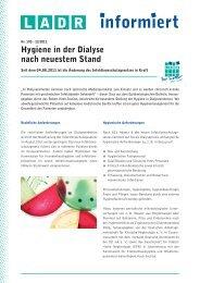 Hygiene in der Dialyse nach neuestem Stand - LADR