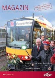 KVV. Bewegt alle. Streckeneröffnung Wörth - KVV - Karlsruher ...