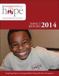 Inheritance of Hope Impact Report | 2014