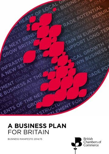 A BUSINESS PLAN FOR BRITAIN
