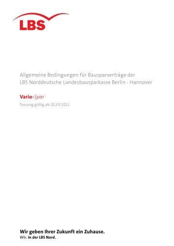 Produktinformationsblatt Für Tarife Classic Und Vario Spar Gültig Lbs