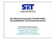 Die Altersversorgung für Gesellschafter- Geschäftsführer und ...