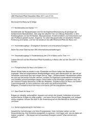 LBS Rheinland-Pfalz Newsletter März 2011 vom 21.03.