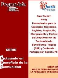 (SBP) y Juntas de Participación Social (JPS) - Inabif