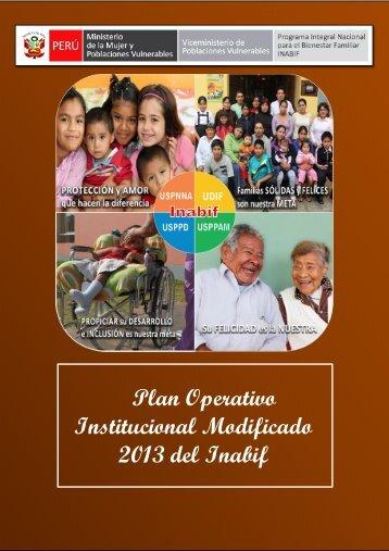 Institucional Modificado 2013 del Inabif