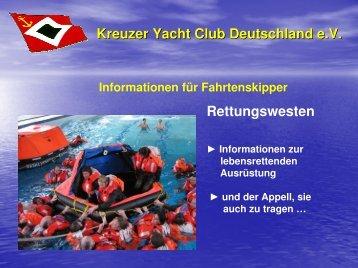 Kreuzer Yacht Club Deutschland e.V. Rettungswesten