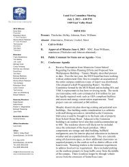 Land Use Committee Meeting July 2, 2013 - Montecito Association