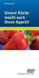 Unsere Küche macht auch Ihnen Appetit - Kantonsspital Winterthur