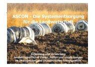 ASCON - Die Systementsorgung für die Landwirtschaft