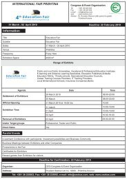 Registration Form-EDUCATION FAIR 2010 - kosovafair.com