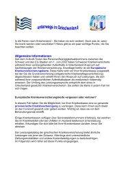 Ferien in Griechenland - Gemeinsame Einrichtung KVG