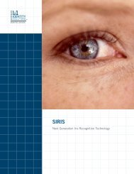 Next Generation Iris Recognition Technology - L-1 Identity Solutions