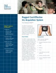 Rugged Cost-Effective Iris Acquisition System - L-1 Identity Solutions