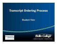 Transcript Ordering Process