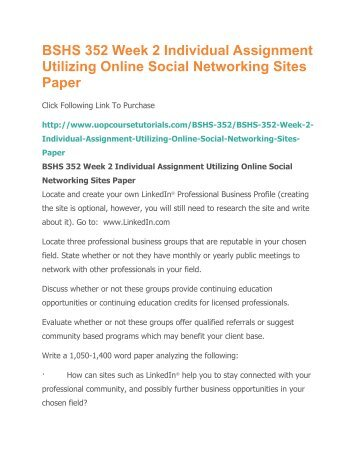 online social networking paper soc 100 Powerpoint slideshow about 'soc 100 professional tutor / soc 100dotcom' - anil20 soc 100 week 3 learning team assignment online social networking paper soc 100.