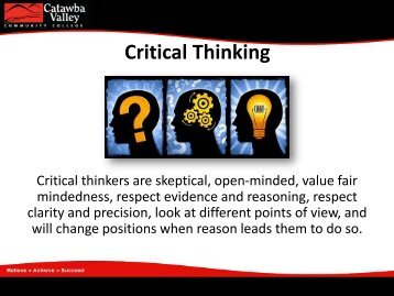 "View PowerPoint about ""Critical Thinking Skills"""