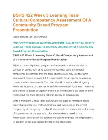 community assessment paper
