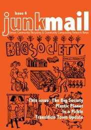 This issue The Big Society Plastic Planet In a Pickle Transition Town Update
