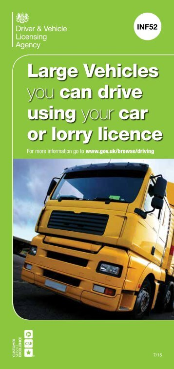 Large Vehicles you can drive using your car or lorry licence