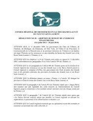 conseil régional des ressources en eau des grands lacs et du fleuve ...