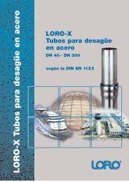 LORO-X Tubería y accesorios para desagüe fabricado en acero en ...