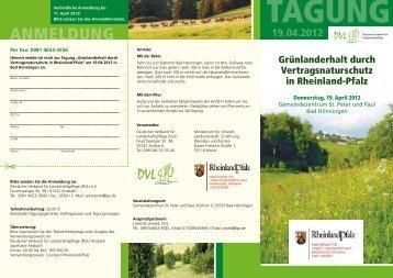 anmelDung - Deutscher Verband für Landschaftspflege e.V.